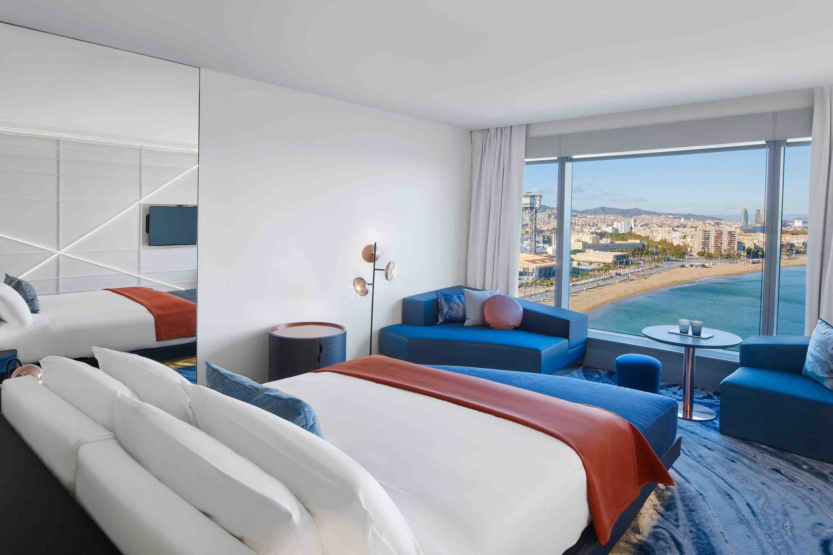 W Barcelona hotel room with sea view