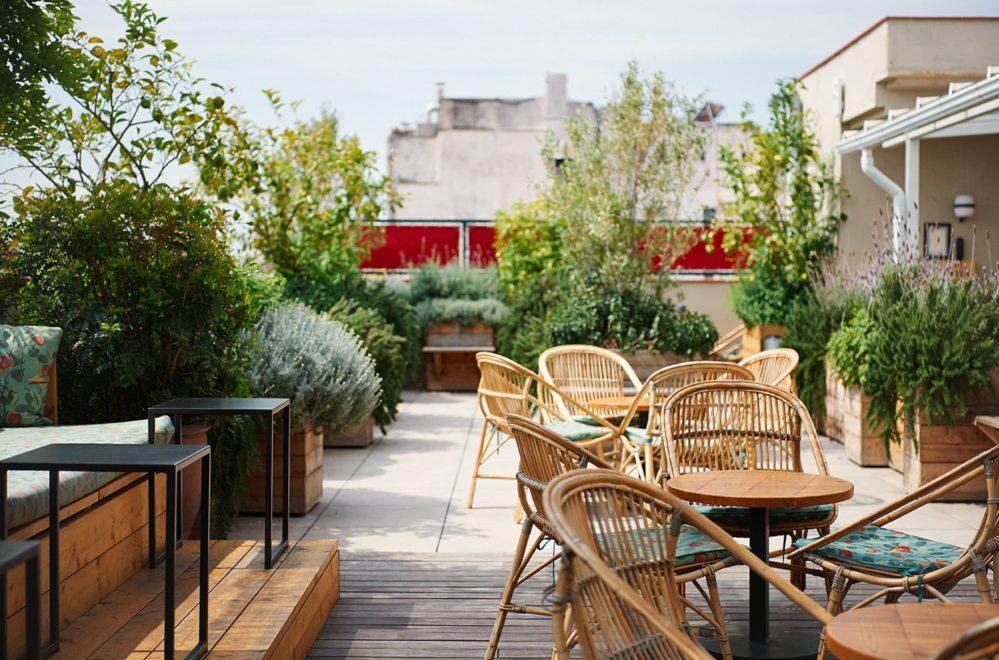 Casa Bonay Barcelona rooftop bar and seating