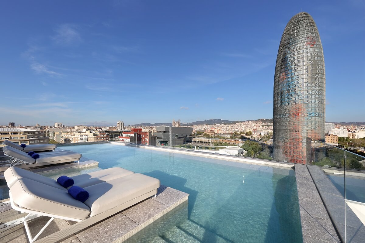 Hotel SB Glow rooftop swimming pool of one of the best unique hotels in Barcelona