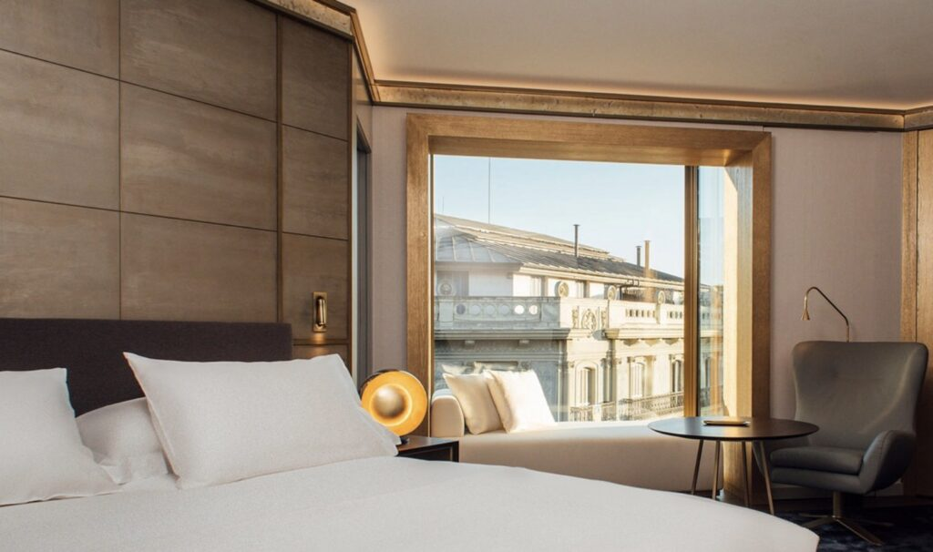 Almanac Barcelona No 2 Room looking onto city from one of the top boutique hotels in Barcelona