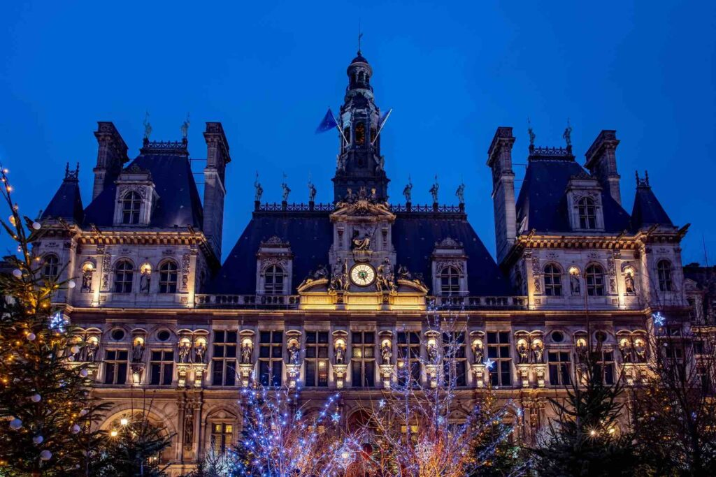 Hotel de Ville at night photo by Andrei Ianovskii le Marais Paris