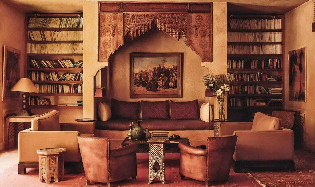The Jnane Tamsna Boutique Hotel library