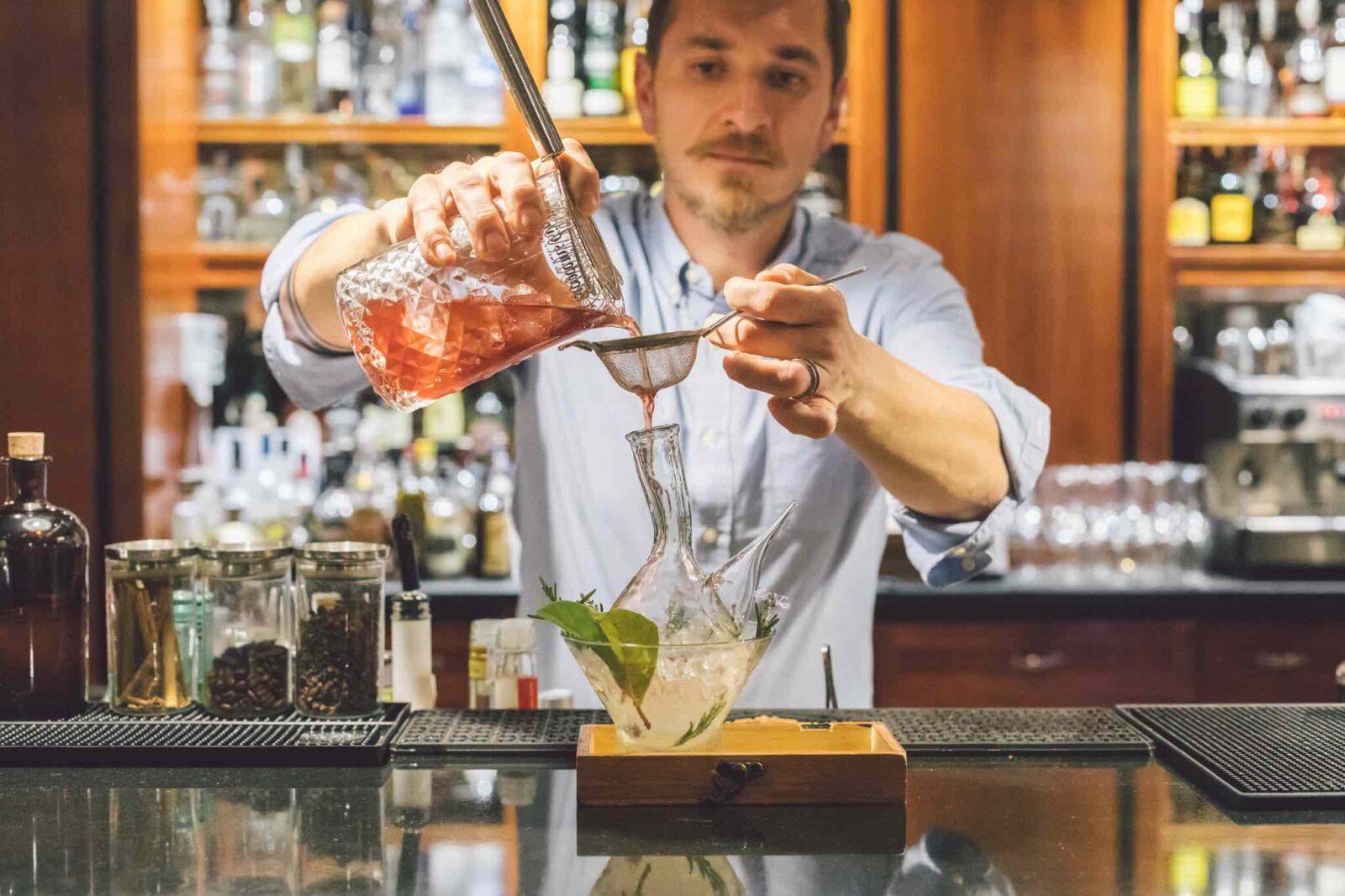 best barcelona hotel bars mixologist at Hotel 1898